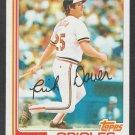 Baltimore Orioles Rich Dauer 1982 Topps Baseball Card 8 nr mt