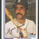 Detroit Tigers Lynn Jones 1982 Topps Baseball Card 64 nr mt