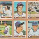1979 Topps New York Mets Team Lot 17 Jerry Koosman Ed Kranepool Bobby Valentine