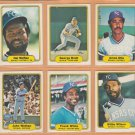 1982 Fleer Kansas City Royals Team Lot 23 George Brett Hal McRae Amos Otis Frank White Willie Wilson