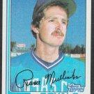 Kansas City Royals Rance Mulliniks 1982 Topps Baseball Card 104 nr mt