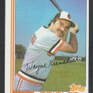 Baltimore Orioles Wayne Krenchicki 1982 Topps Baseball Card 107 nr mt