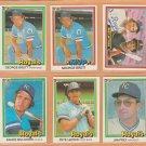 1981-1984 Donruss Kansas City Royals Team Lot George Brett Hal Mcrae Frank White Willie Wilson