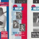 8 Boston Red Sox Schedule Brochures Roger Clemens Pedro Martinez Jose Canseco Garciaparra Mo Vaughn