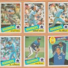 1985 Topps Seattle Mariners Team Lot 22 diff Gorman Thomas Al Cowens Mike Moore