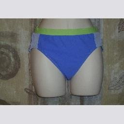 New Cazimi High Waist Purple Green Trim Swim Bottoms 8