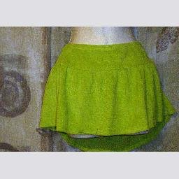 New Rampage Green Terry Cloth Swim Cover Up Skirt L