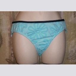 NWT By the Beach High Waist Light Blue Bikini Bottom M