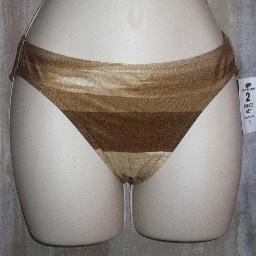 NWT Tommy Bahama Brown Striped Bikini Bottom 4