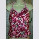 NWT Body ID Pink Floral Print Tankini Swim Top 11 12