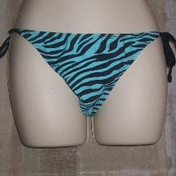 NWT Old Navy Blue Swirl Side Tie Bikini Swim Bottoms S