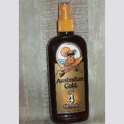 New Australian Gold SPF 4 Dark Tanning Spray Gel 8oz