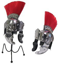 Mini Crested Roman Officer's Helmet Desktop Display