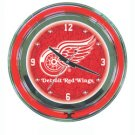 NHL Detroit Redwings Neon Clock - 14 inch Diameter