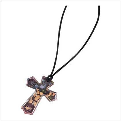 Art Glass Cross Necklace