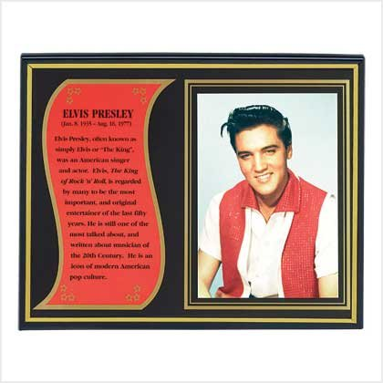 Elvis Biography Plaque