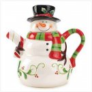 Holly Jolly Snowman Teapot