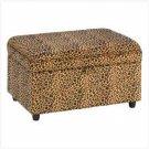 Luscious Leopard Storage Ottoman