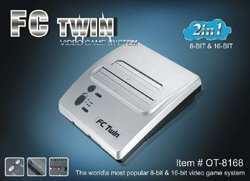 FC Twin NES/SNES Console - Silver/Black (New)