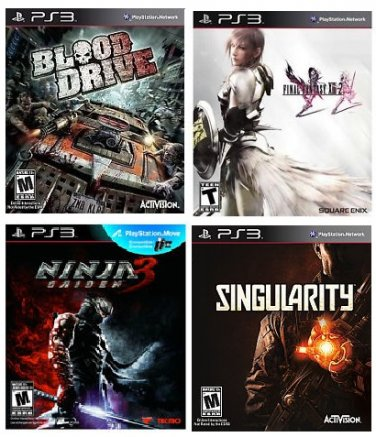 NEW PS3 - 4 Game Bundle for Sony Play Station 3