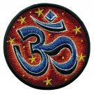 Aum om infinity hindu trance embroidered applique iron-on patch applique T-40