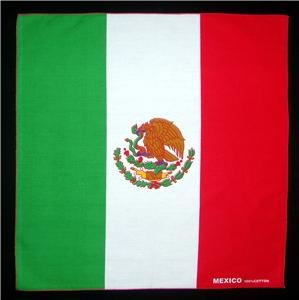 Lot of 6 Flag of Mexico Mexican bandanas wall hangings