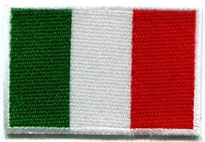 Italian flag Italy Rome hope faith charity applique iron-on patch Medium S-101