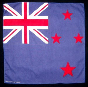 Flag of New Zealand bandana wall hanging 20x20 new