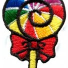 Lollipop gay lesbian pride rainbow flag retro LGBT applique iron-on patch S-191