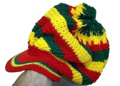 Reggae rastafari dread knit tam hat beanie cap new