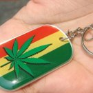 Ganja marijuana leaf flag of Judah keyring keychain new