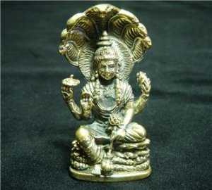 "Hindu Narai Vishnu indian yoga trance brass figurine statue new 1.25"" X 2.13"""