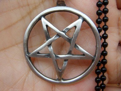 Wholesale lot 12 pentagram occult pewter pendants new FREE WORLDWIDE SHIPPING!
