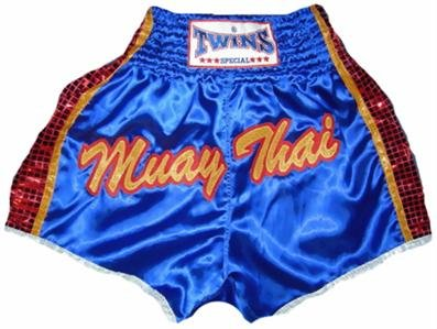 Twins Muay Thai boxing shorts blue new Large TBS-193