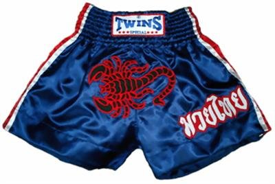 Twins Muay Thai boxing shorts red scorpion Large TBS52
