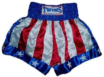 Twins Muay Thai boxing shorts American Flag Large
