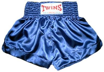 Twins Muay Thai boxing shorts blue new Large TBS-124