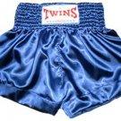 Twins Muay Thai boxing shorts blue new Large TBS-124