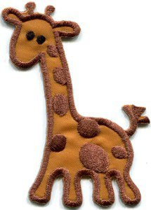 Giraffe baby animal wildlife kids applique iron-on patch S-308