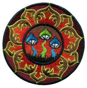 Mushroom boho hippie retro love peace weed lotus applique iron-on patch T-21