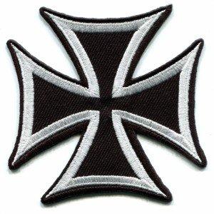 German Iron Cross military medal WW2 valor war biker iron-on applique patch S-85