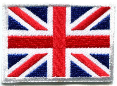 Union Jack flag of Great Britain British UK applique iron-on patch Small S-102