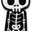Skull skeleton goth punk emo horror biker applique iron-on patch S-261