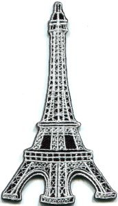 Eiffel Tower Paris France applique iron-on patch FREE WORLDWIDE DELIVERY, NO PURCHASE LIMIT S-323