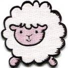 Sheep lamb ewe fun retro applique iron-on patch S-206