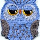 Owl bird of prey hoot animal wildlife applique iron-on patch S-330