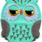 Owl bird of prey hoot animal wildlife applique iron-on patch S-329