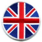 British Union Jack flag embroidered applique iron-on patch S-115