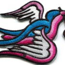 Bird cherries tattoo applique iron-on patch S-293