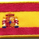 Flag of Spain Spanish pillars of Hercules applique iron-on patch Small S-350